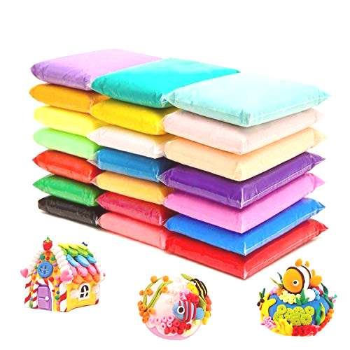 24 Colors Air Dry Clay Magical Kids Clay Ultra Light