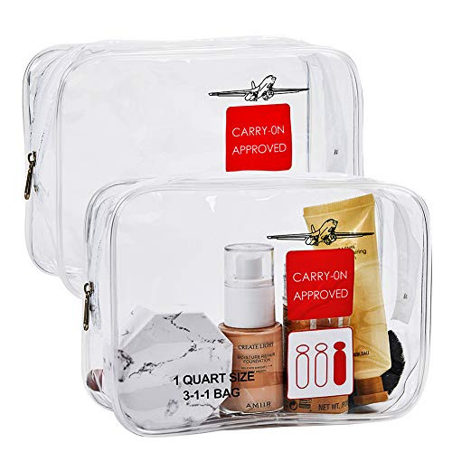 2pcs TSA Approved Toiletry Bag,Travel Carry On Airport