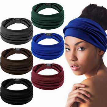 6 Pieces African Headbands Knotted Elastic Hairbands