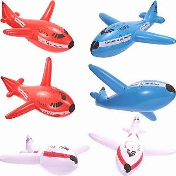 6 Pieces Inflatable Airplanes Aircraft Inflates Plane
