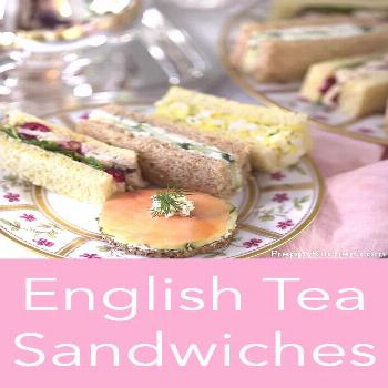 A delicious assortment of traditional English tea sandwiches that will make your heart sing. LOL, w