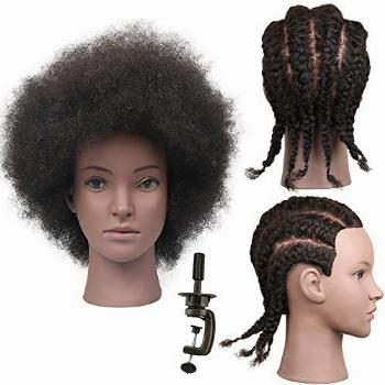 African American Mannequin Head With Hair For Braiding,Doll