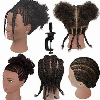 Afro Curly Mannequin Head 100% Human Hair Training Head
