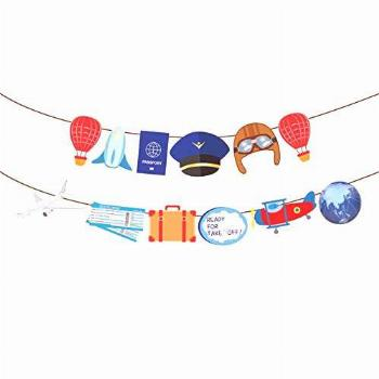 Airplane Party Banner for Plane Theme Birthday Party