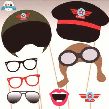 Airplane Party Photo Booth Props - Airplane Party Personalized printables will save you time and mo