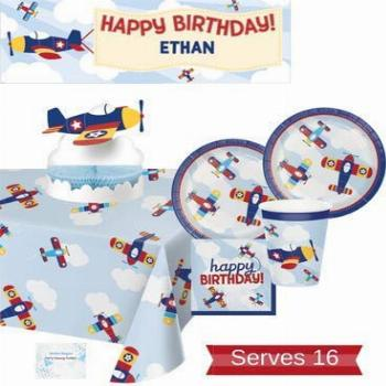 Airplane Party Supplies - Plates Cups Napkins Birthday
