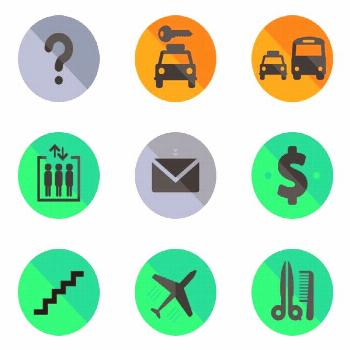 Airports Icons ,