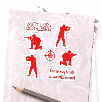 Airsoft pack - red Sticker