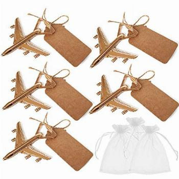 Amajoy Pack of 25 Airplane Bottle Opener with White Sheer