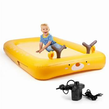 amzdeal Kids Inflatable Bed,Toddler Travel Bed with 4