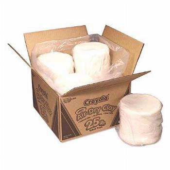 Crayola 575001 Air-Dry Clay, 25 lb. Value Pack, White