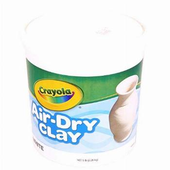 Crayola Air Dry Clay, White, 5 Pounds (Pack of 1)