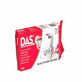 DAS Air-Hardening Modeling Clay, 2.2 Lb. Block, White Color