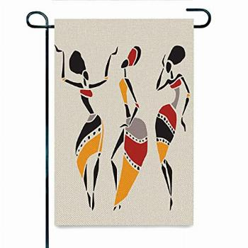 DISGOWONG African Spring Flower Welcome Garden Sign 12×18