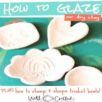 How to Glaze Air Dry Clay and Make Super Cute Little DIY Ring Dishes!  Tips for Glazing Air Dry Cla