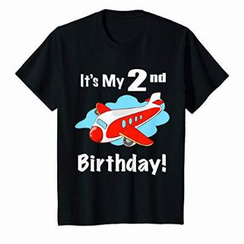Kids 2nd Birthday airplane theme party outfit toddler gift