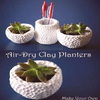Make Your Own: Air-Dry Clay Succulent Planters