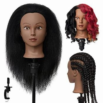 MEIBR Mannequin Head 100% Real Hair 16 inch Styling Training