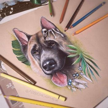 Pet commission by @abbiemorphew whilst we are temporarily closed. Check out what our other artists