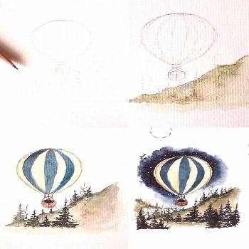 (Rosie etchbook) Watercolor painting process photos. | Woodcraft Painting | Craft Paint | Mod Podge