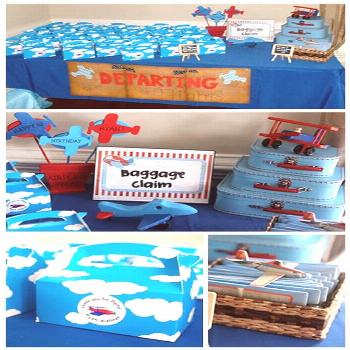 There are only two ways to live your life.: Airplane Themed Birthday Party