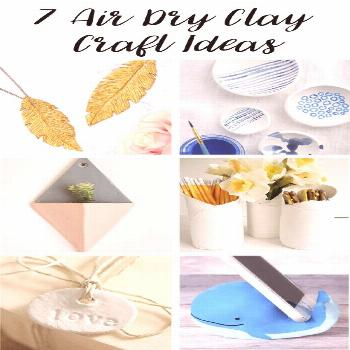 This is a collection of beautiful crafts that can be made from air dry clay, ranging from jewellery