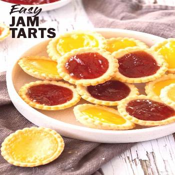 Who doesn't love homemade Jam Tarts? With a buttery base and a thick filling of jam or curd, these
