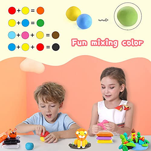 36 Colors Air Dry Clay,Magic Modeling Clay with Tools,Ultra