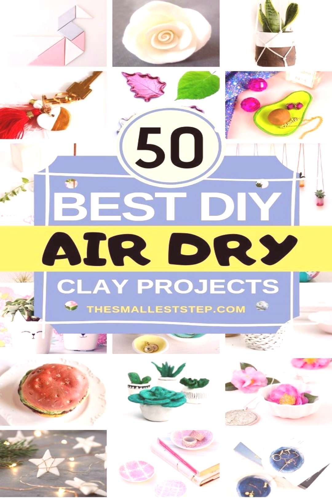 50 DIY Air Dry Clay Projects Youll Love - The Smallest Step These 50 DIY Air Dry Clay Projects are