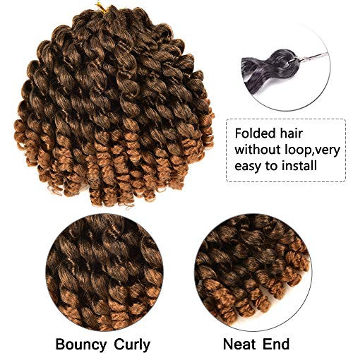 8 Inch Wand Curly Braids Bounce African Collection Crochet