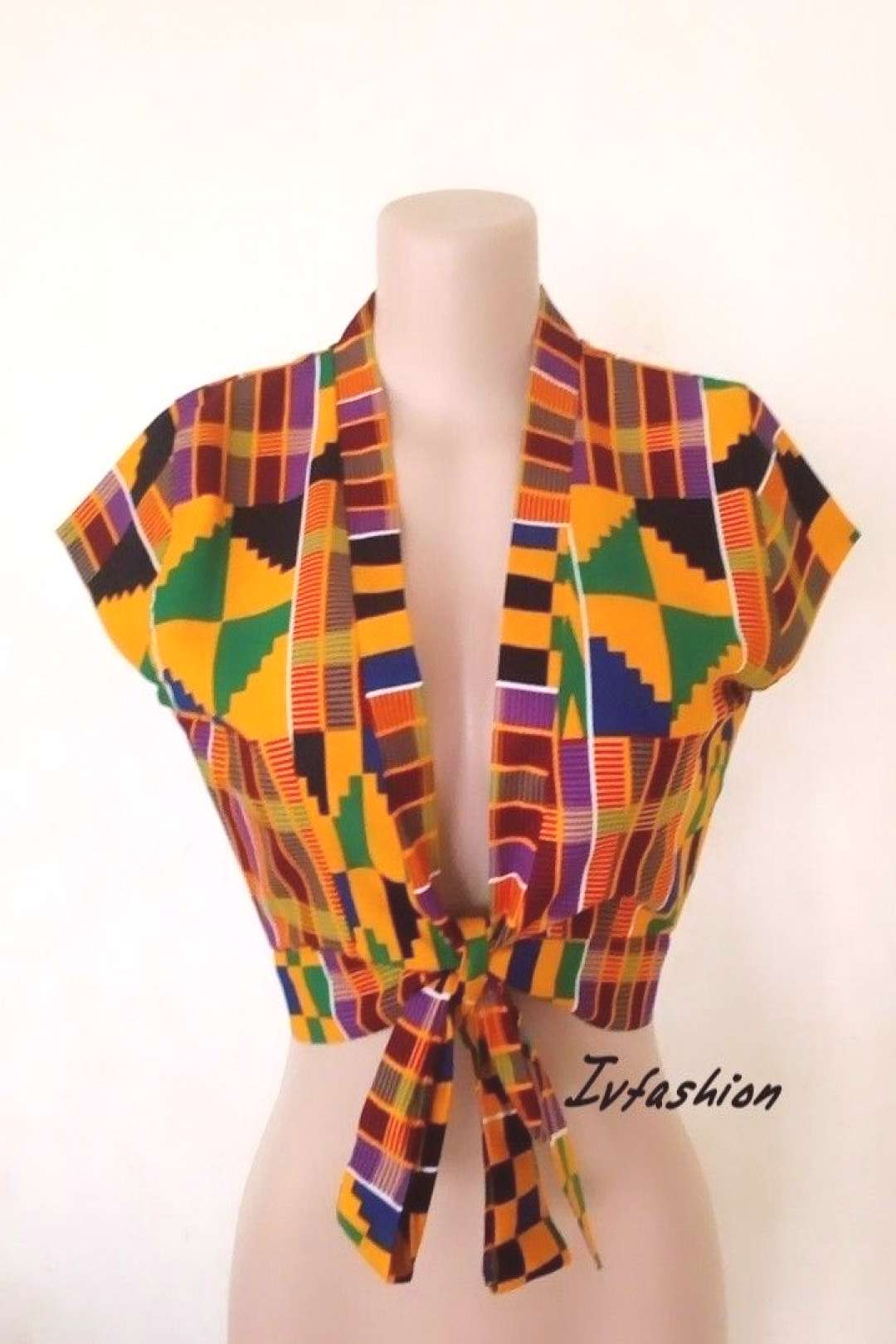African crop top, African clothing for women A classic African crop top . Look smart and flashy in