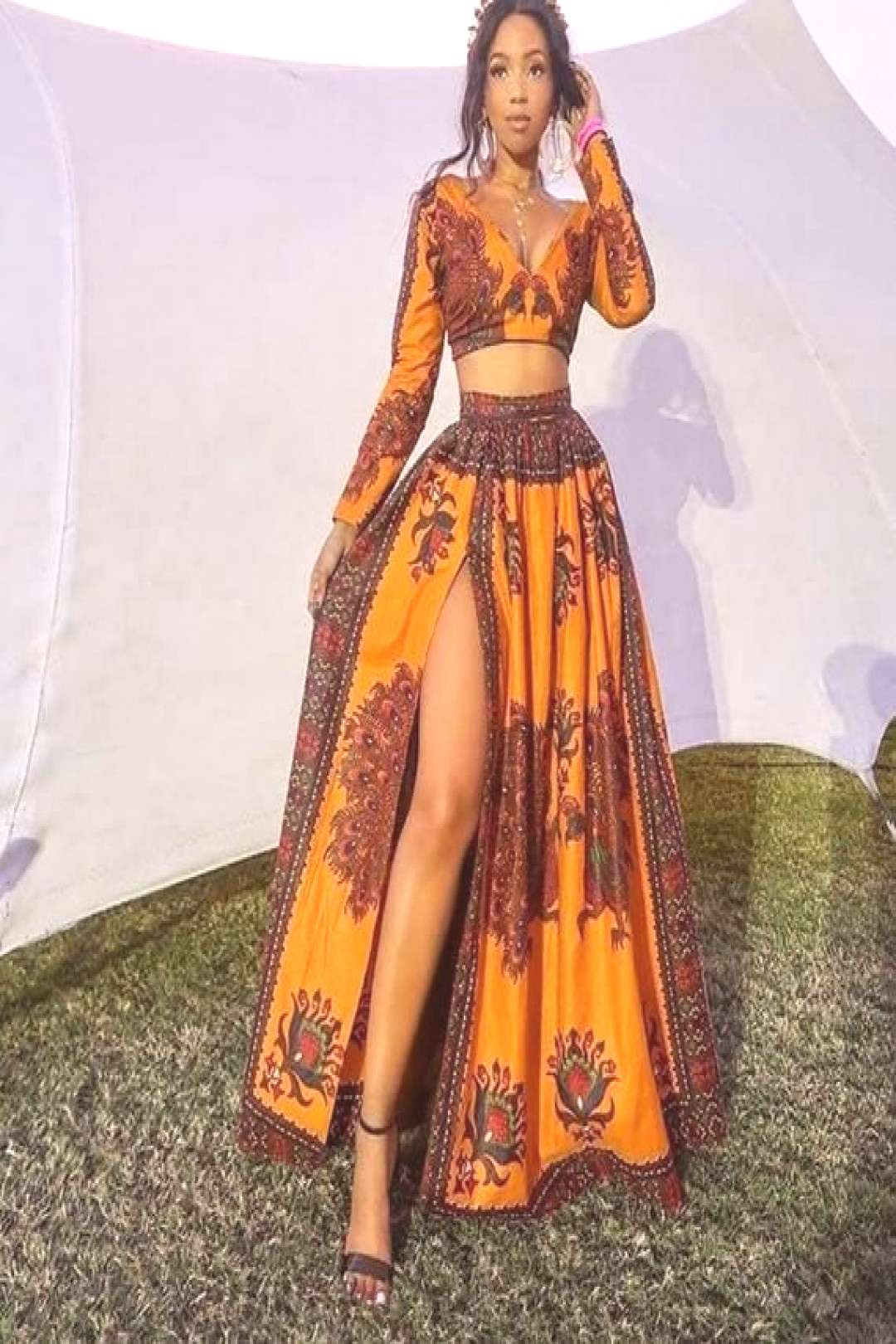 African maxi dress from women Ankara dresses with slit | Etsy