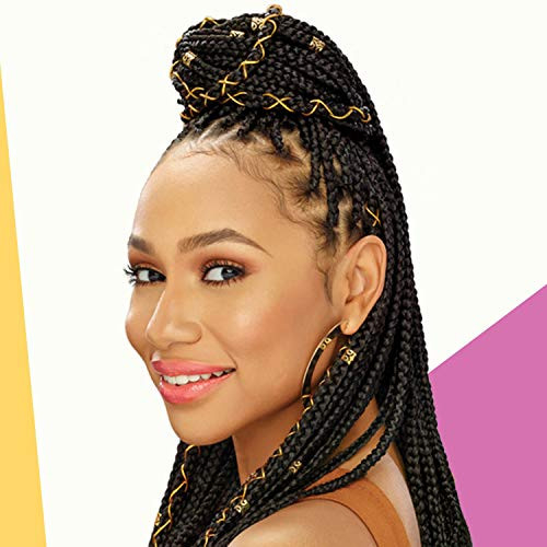 African Pride Black Castor Miracle Extra Hold Braid, Loc,