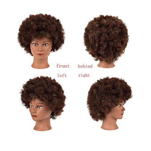 Afro Mannequin Head with Human Hair for Braiding African