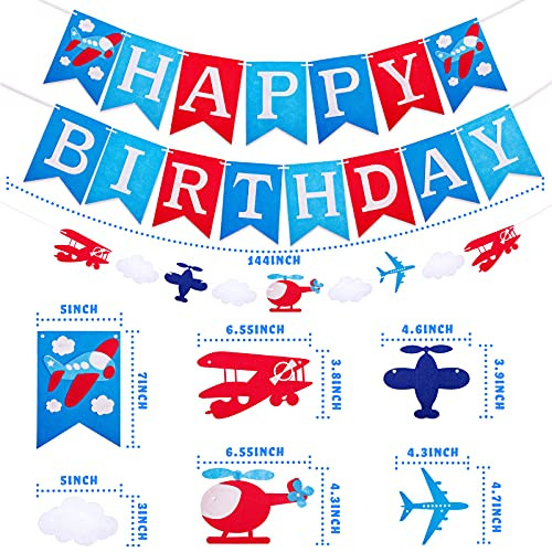 Airplane birthday party supplies,56 Pieces Airplane