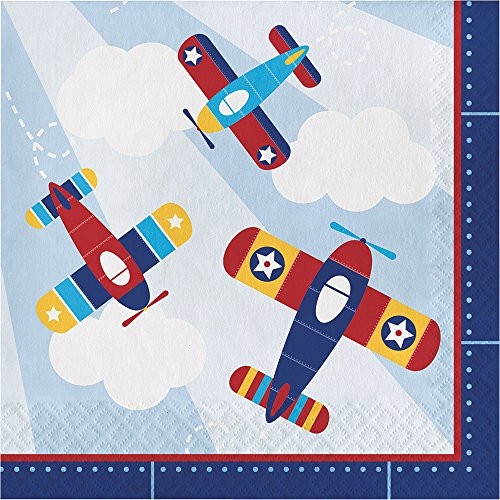 Airplane Flyer Birthday Party Supplies Pack Serves 16