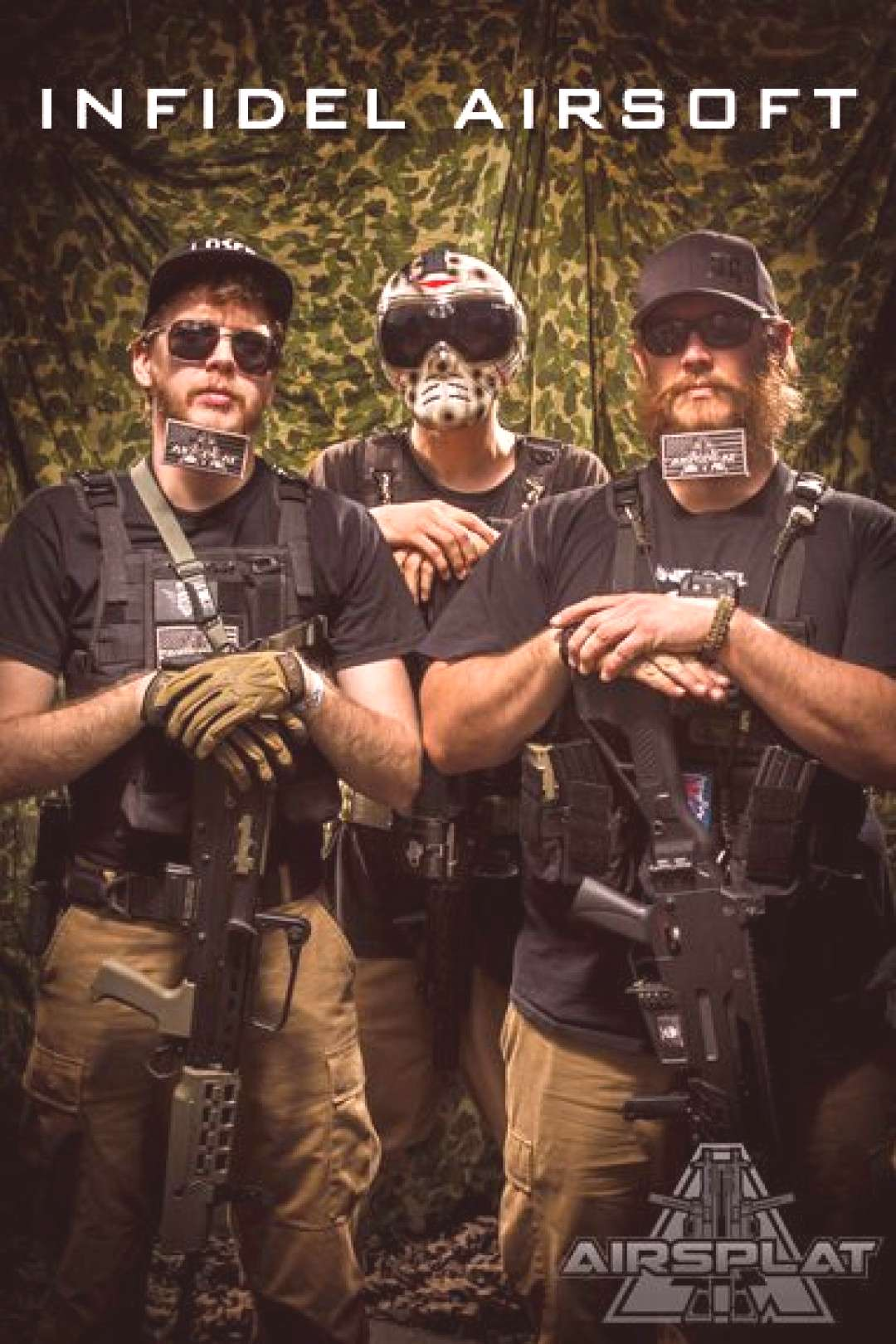 AirSplat Sponsored Team Infidel Airsoft Team rocking their tactical beards!! ...#airsoft