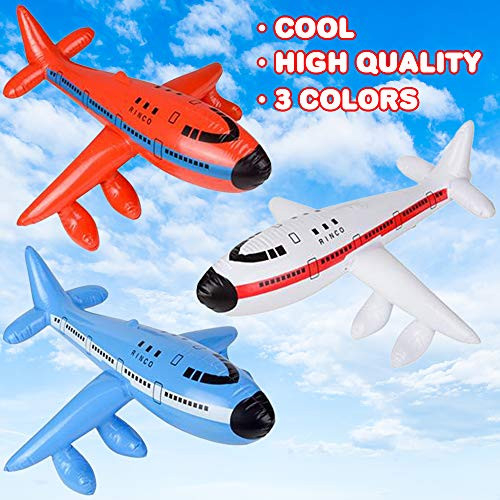 ArtCreativity Jet Inflates, Set of 3, Inflatable Planes with