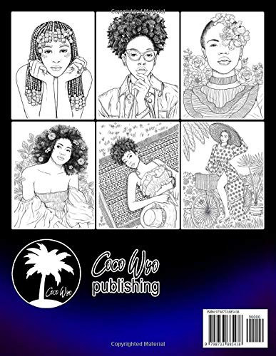 Black Women Coloring Book Adults Coloring Book With