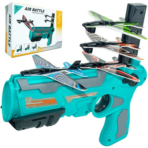 Bubble Catapult Plane Toy Airplane, Fun Shooting Game Toy