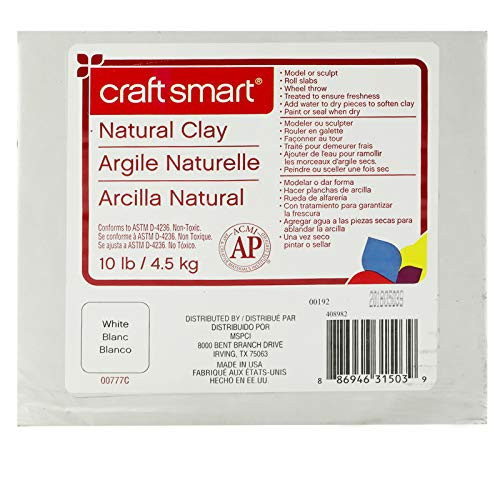 Craftsmart Natural Air-Dry Clay, White, 10lbs –