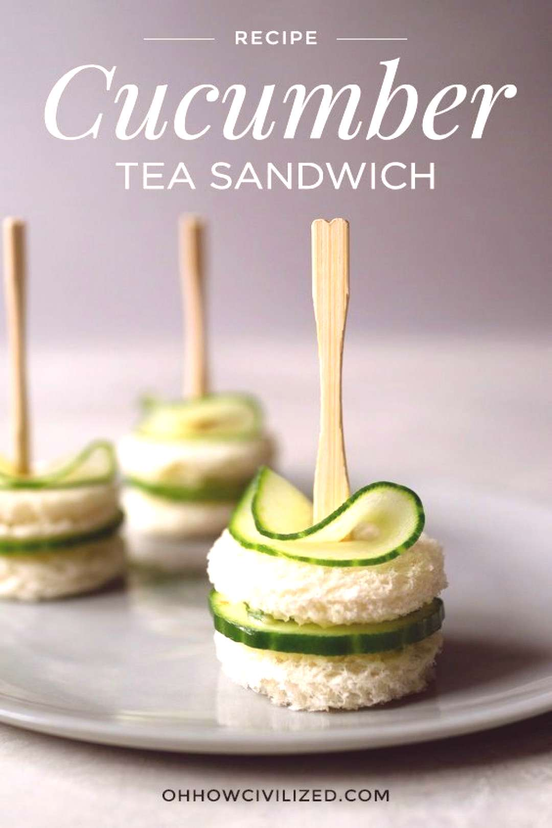Dainty and easy-to-make cucumber sandwiches with chive butter perfect for tea time and afternoon te