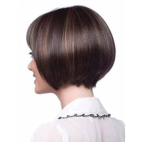 FCHW Wigs Brown Mixed Blonde Wigs for Women Short Straight