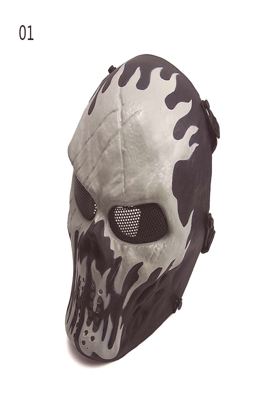 .GZ90058 Black Skull Skeleton Full Face Tactical Mask Paintball Airsoft Protect Security - Buy Pain