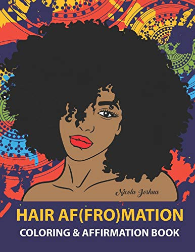 HAIR AF(FRO)Mation Coloring and Affirmation Book Hair
