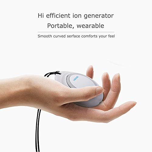 HIKINS Personal Travel Mini Portable Air Purifier Necklace
