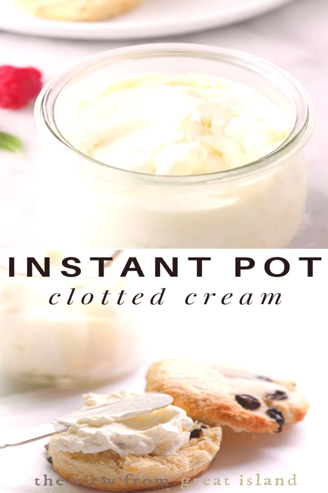How to make Instant Pot Clotted Cream! My Instant Pot Clotted Cream Recipe is a revelation, plain a