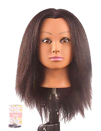 Kalyx African Mannequin Head Real Hair for Cosmetology