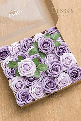 Lings moment Artificial Flowers African Violet Purple Roses