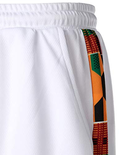 LucMatton Mens African Pattern Printed T-Shirt and Shorts